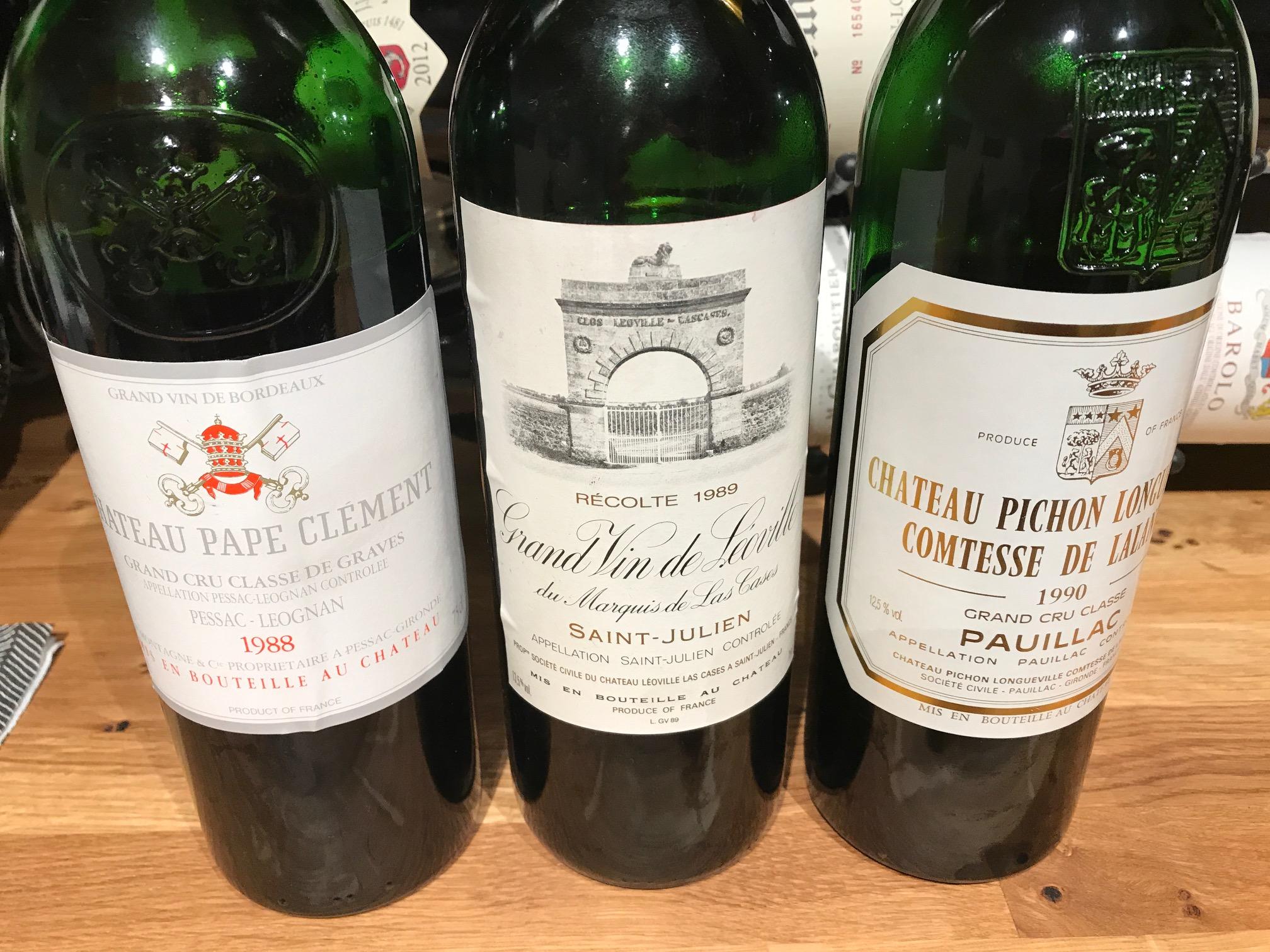 Bordeaux 1988 – 1989 – 1990